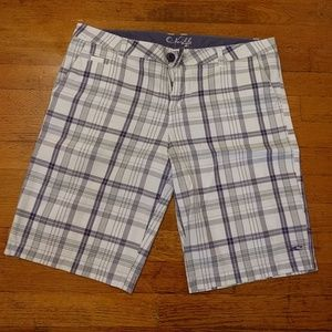 O'Neill plaid shorts